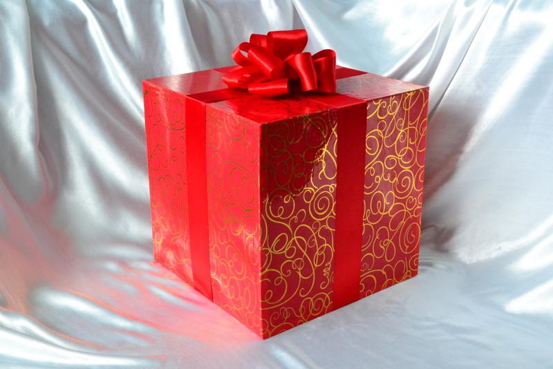 Украшенные коробки с подарками 502
